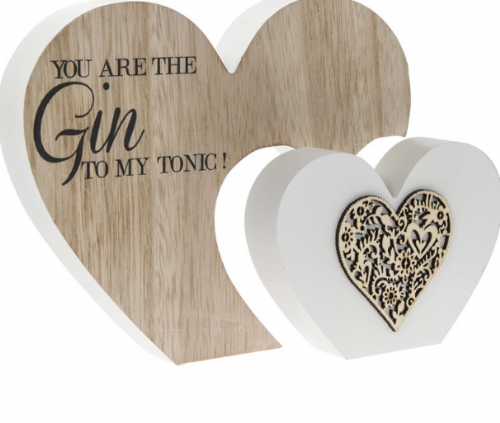 Sentiments Dbl Heart Gin gift